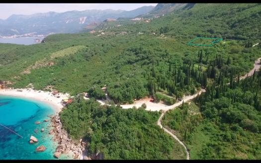 budva land with planning villa project