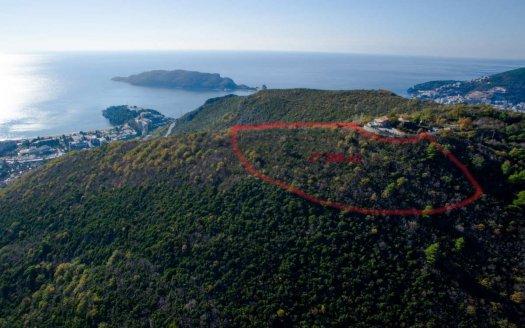 budva land on hill for sale
